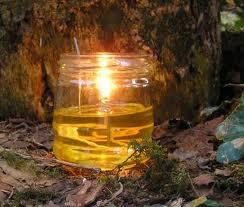 DIY oil lamp