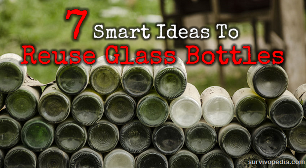 7 smart ideas to reuse glass bottles survivopedia for Ideas to recycle glass bottles