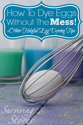 Dye eggs without mess