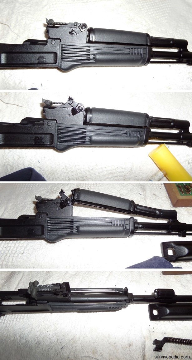 Remove the gas tube/ hand guard assembly