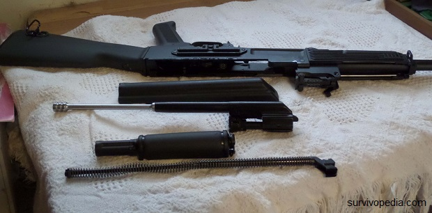 AK broken down to its basic components.