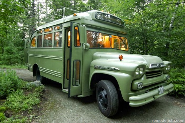 A Funky Makeover for a Maine Bus