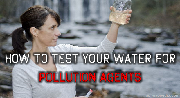 Testing water for pollution agents