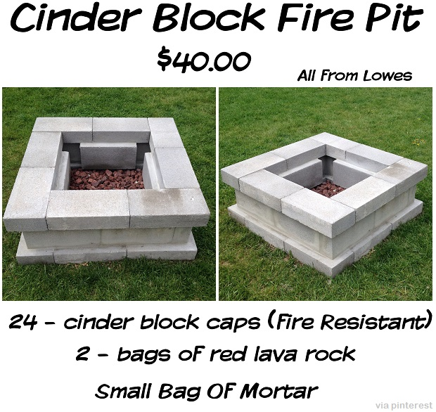 Image gallery homemade wood block smoker for How to build a block fire pit
