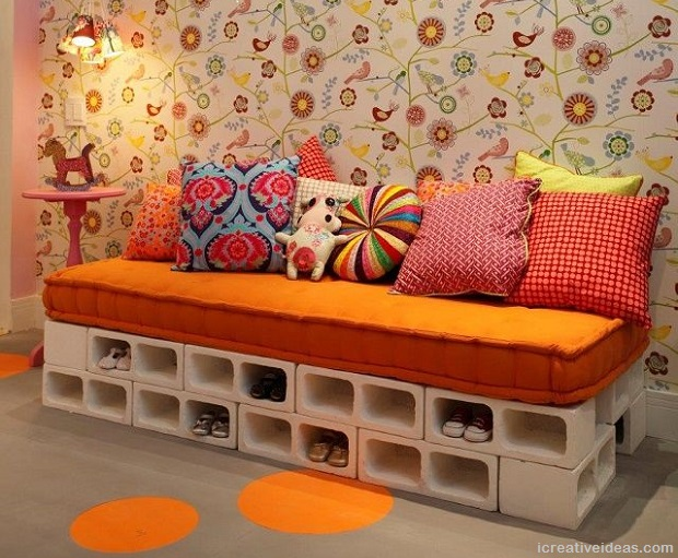 Cinder Block Sofa Bed