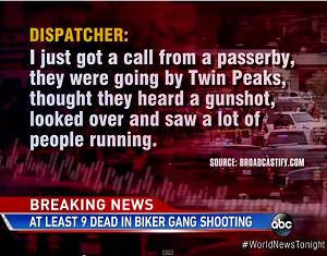 Twin Peaks biker brawl