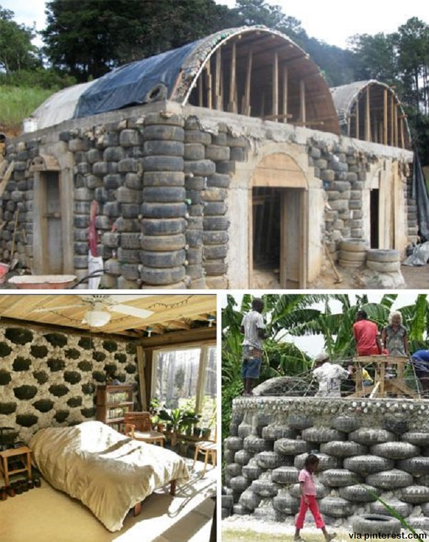House Building Materials : How to recycle tires for your homestead survivopedia