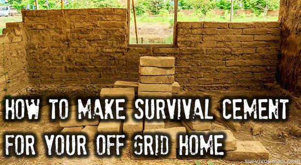 How to make survival cement survivopedia for How to make cement at home