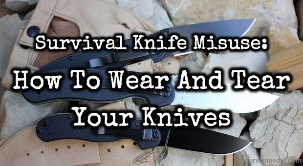 Knives misuses
