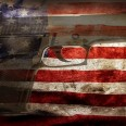 47663785 - handgun and american flag