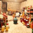 17625452 - old cellar  - pantry with food