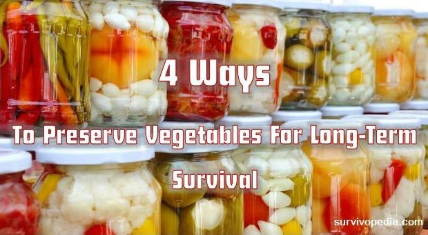 Preserve Vegetables For Long Term Survival