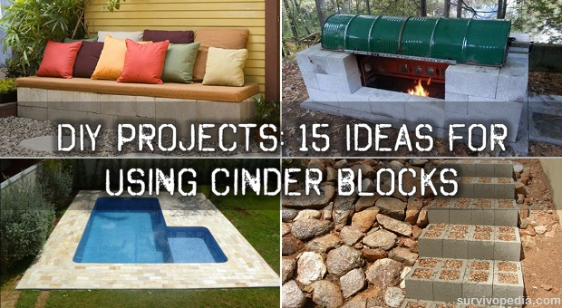Diy Projects 15 Ideas For Using Cinder Blocks Survivopedia
