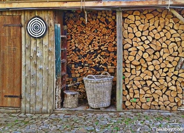 Storing wood